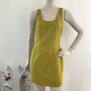Forever 21 Olive Green Crinkled Mini Sheath Dress